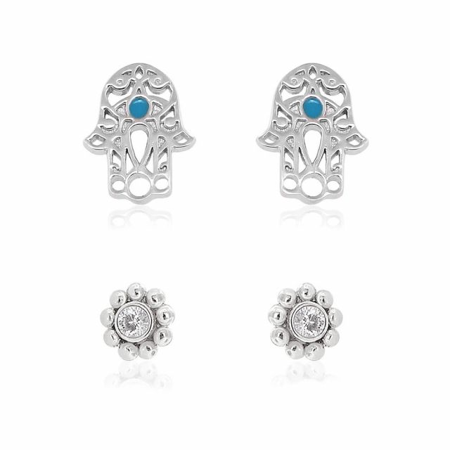 Sydney Leigh Hamsa Earrings Set of 2