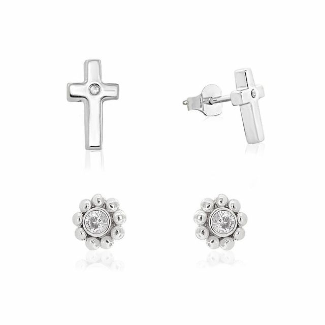 Sydney Leigh Cross Earrings Set of 2
