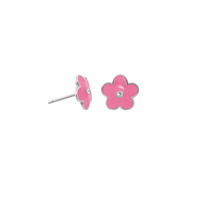 Kids Daisy Enamel Earrings