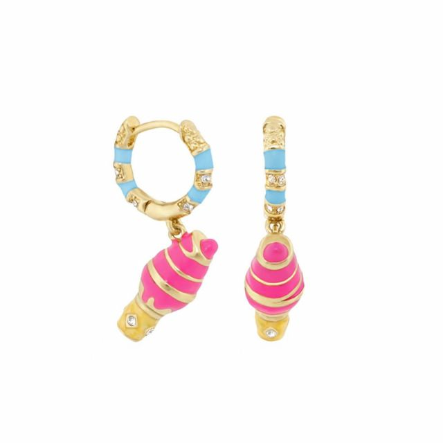 Girls Huggie Ice Cream Cone Earrings