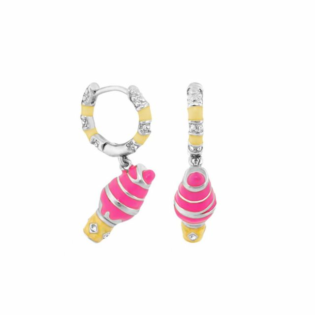 Girl's Huggie Earrings With Ice Cream Cone