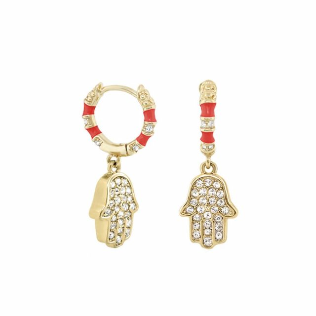 Girl's Hamsa Huggie Earrings