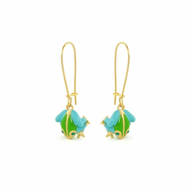 Dream Garden Frog Earrings