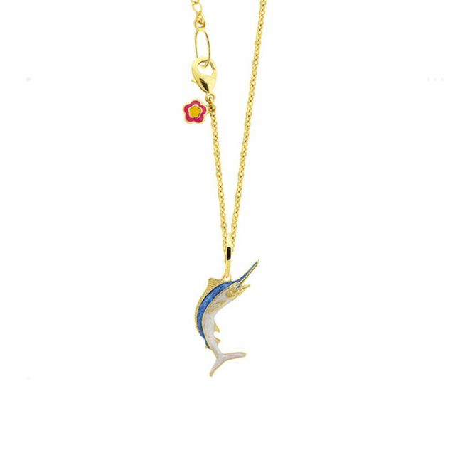 Aloha Marlin Pendant With Chain