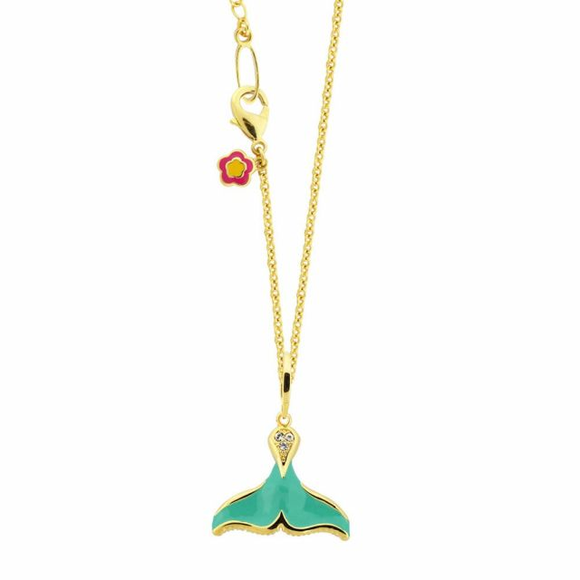 Eau Sea Whale Tail Pendant Necklace