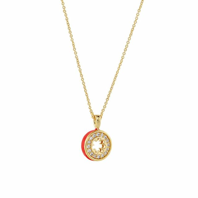 Open Arms Pave Flower Necklace
