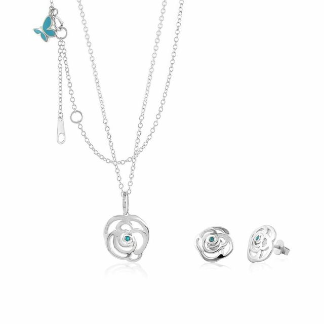 Sydney Leigh Rose Necklace & Earrings Set