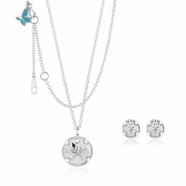 Sydney Leigh Sand Dollar Necklace & Earrings Set