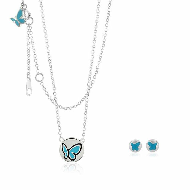 Sydney Leigh Butterfly Necklace & Earrings Set
