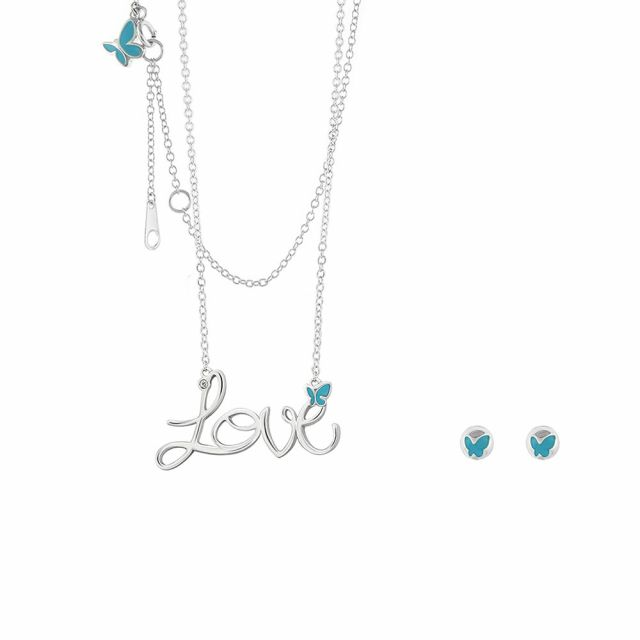 Sydney Leigh Love Necklace & Earrrings Set