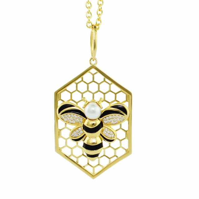 Beehive Necklace