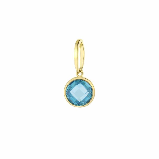 March Birthstone Color Pendant