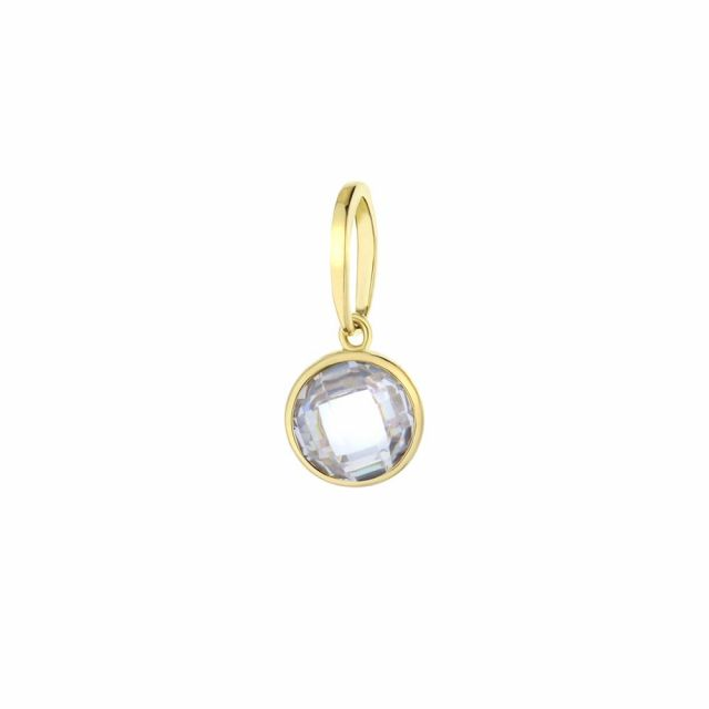 April Birthstone Color Pendant