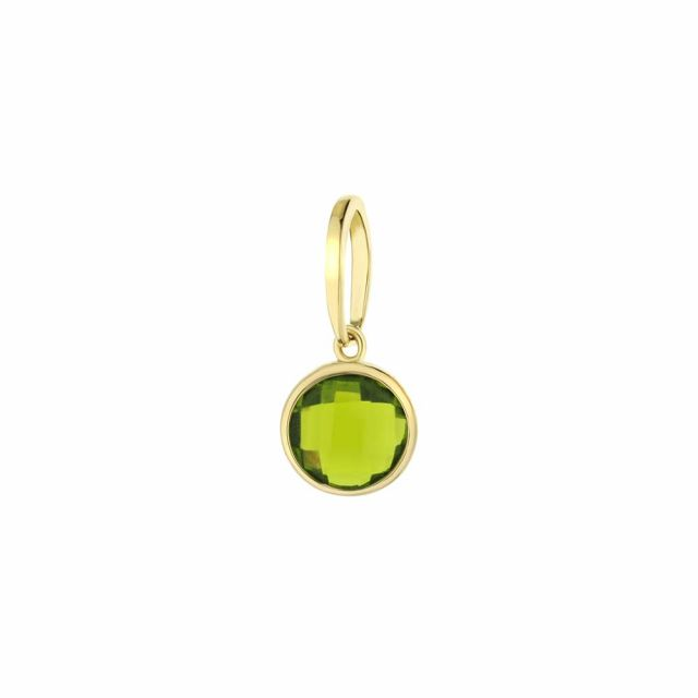 August Birthstone Color Pendant
