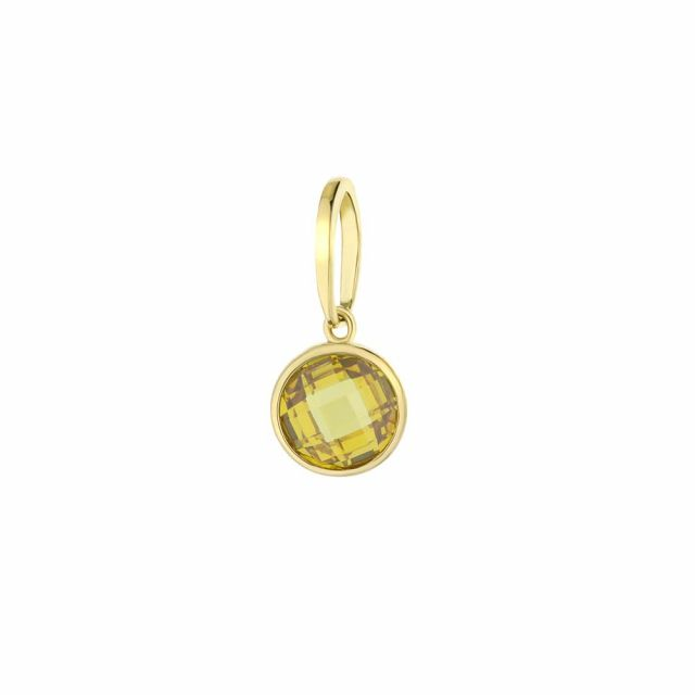 November Birthstone Color Pendant