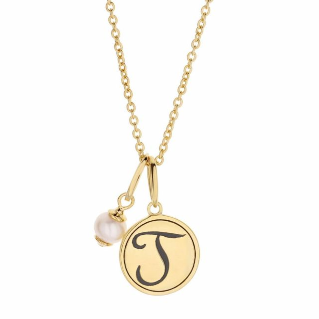 Initial T Necklace