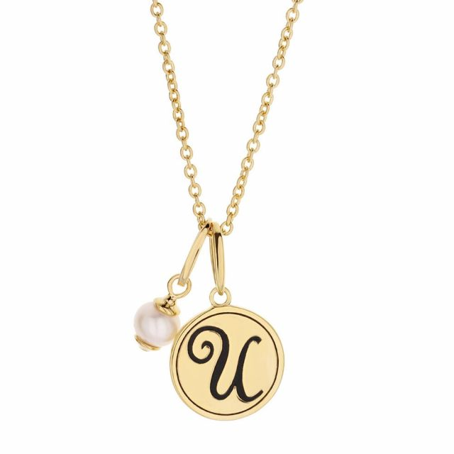 Initial U Necklace