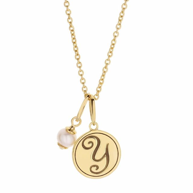 Initial Y Necklace