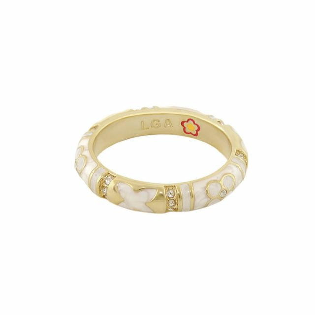 Floral Knight Stackable Ring