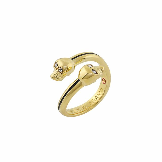 Open Arms Skull Stackable Ring