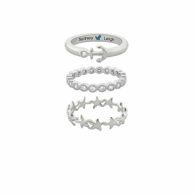 Sydney Leigh Starfish & Anchor Rings Set of 3