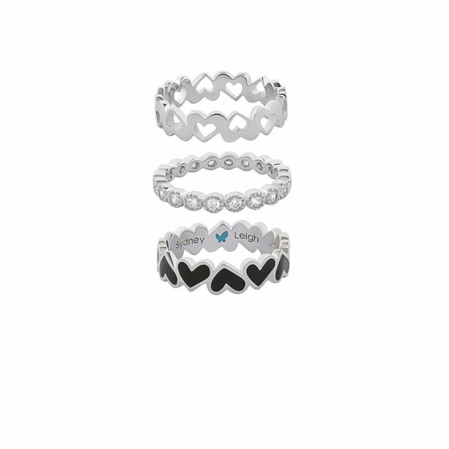Sydney Leigh Heart Rings Set of 3