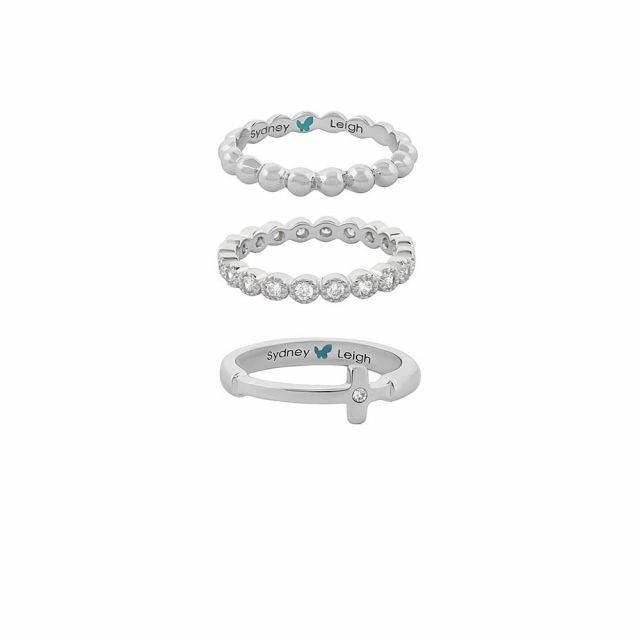 Sydney Leigh Cross Rings Set of 3