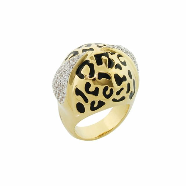 Sweet Leopard Cocktail Ring