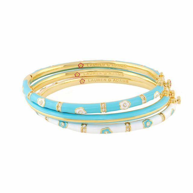 Daisy Love Set of 3 Bangles